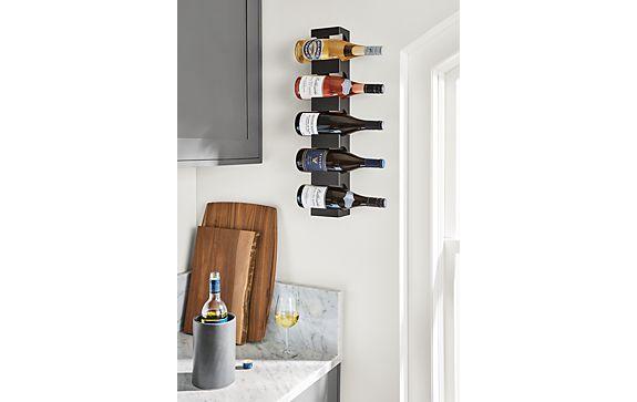 Dorsey Natural Steel Wine Rack in Kitchen