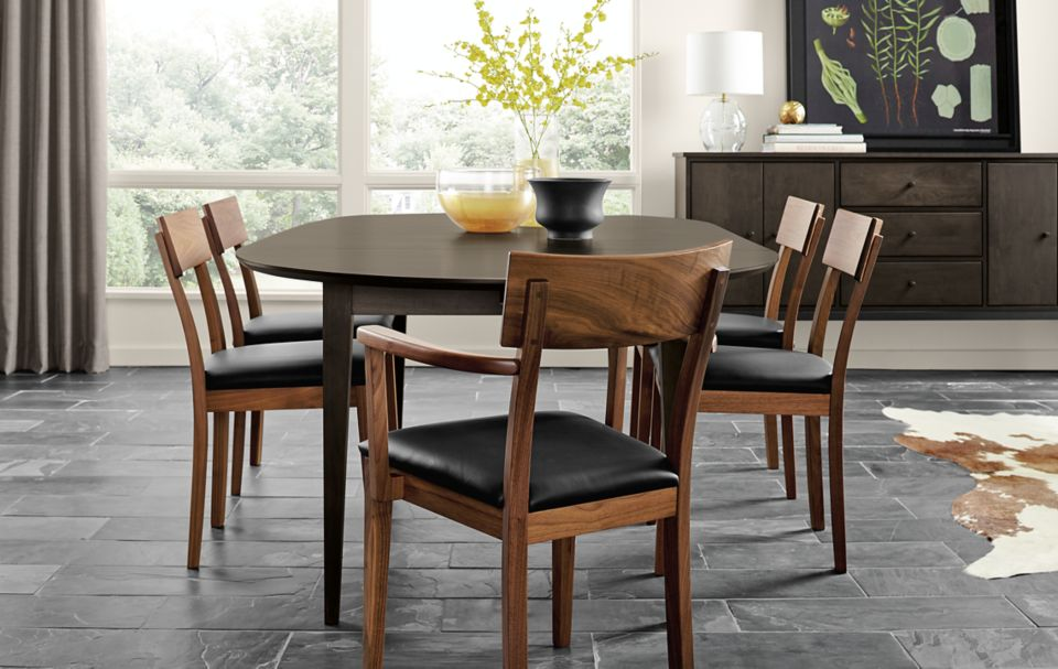 Doyle arm and side chairs in modern dining room