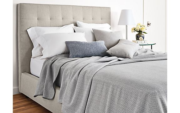 Drizzle Bedding in Grey Bedroom