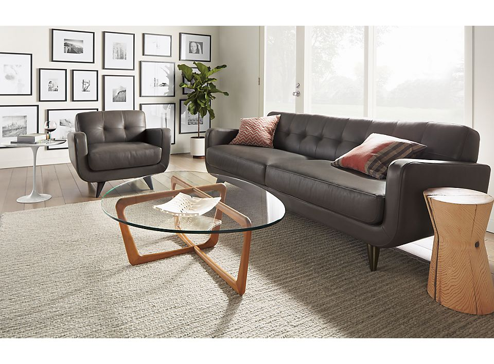 Dunn coffee table in mid-century living room
