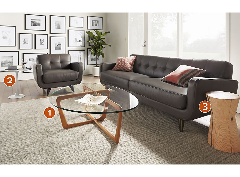 Dunn Coffee Table With Hourglass TableStool How To Add An Accent - Room and board saarinen table
