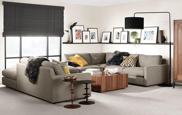 Easton Sectionals   Modern Sectionals   Modern Living Room Furniture   Room  U0026 Board