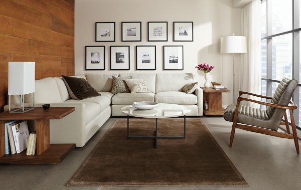 Easton Sectional with Callan Leather Chair : easton leather sectional - Sectionals, Sofas & Couches