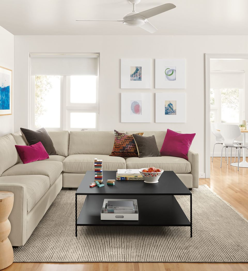 Detail of Easton three-piece sectional