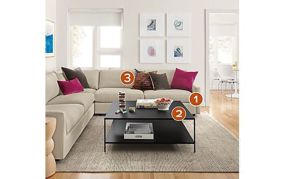 Easton L-shaped Sectional Living Room