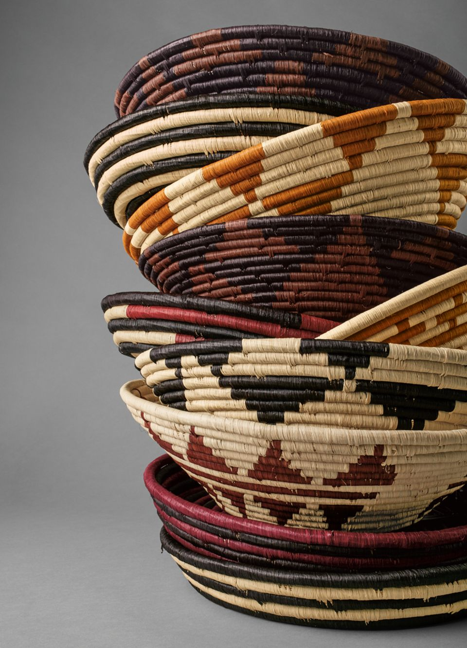 Detail of decorative handmade baskets
