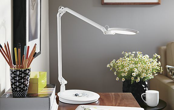 Element Disc LED Table Lamp in White