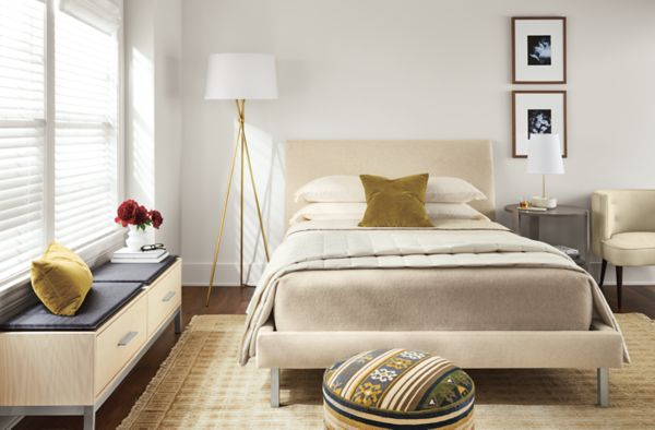 Ella Upholstered Bed - Modern Beds & Platform Beds - Modern Bedroom ...