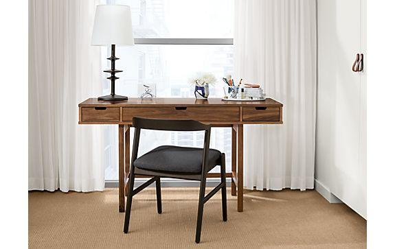 Ellis Walnut Desk with Jansen Side Chair