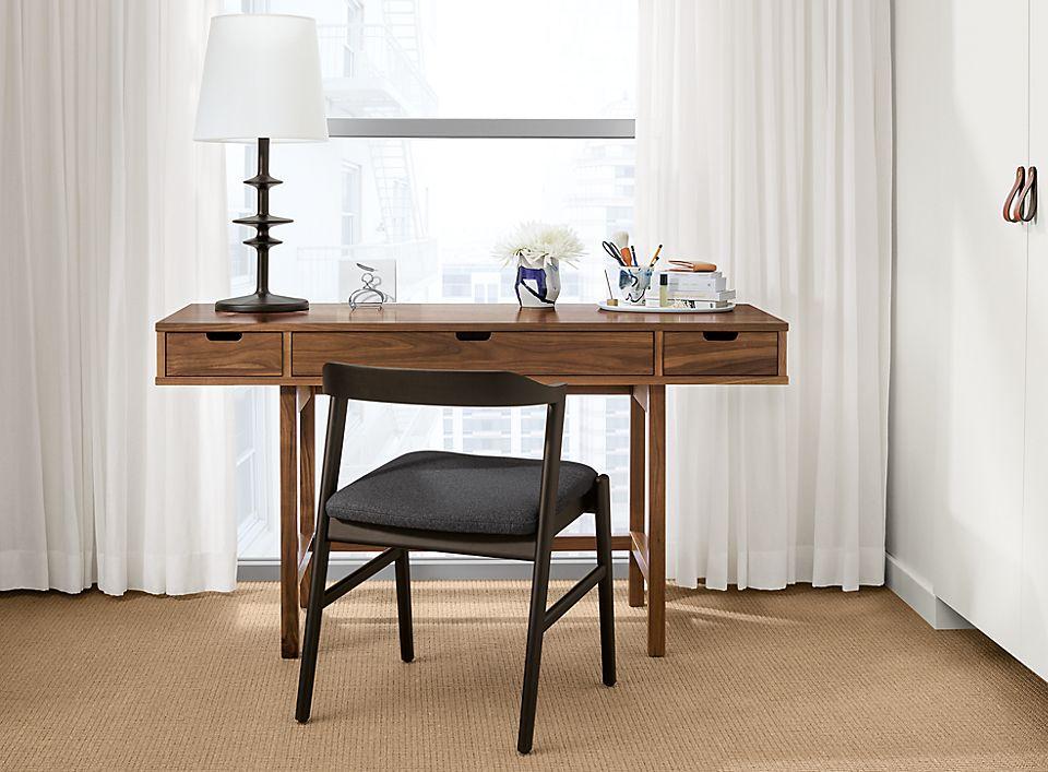 Detail of Ellise wood desk