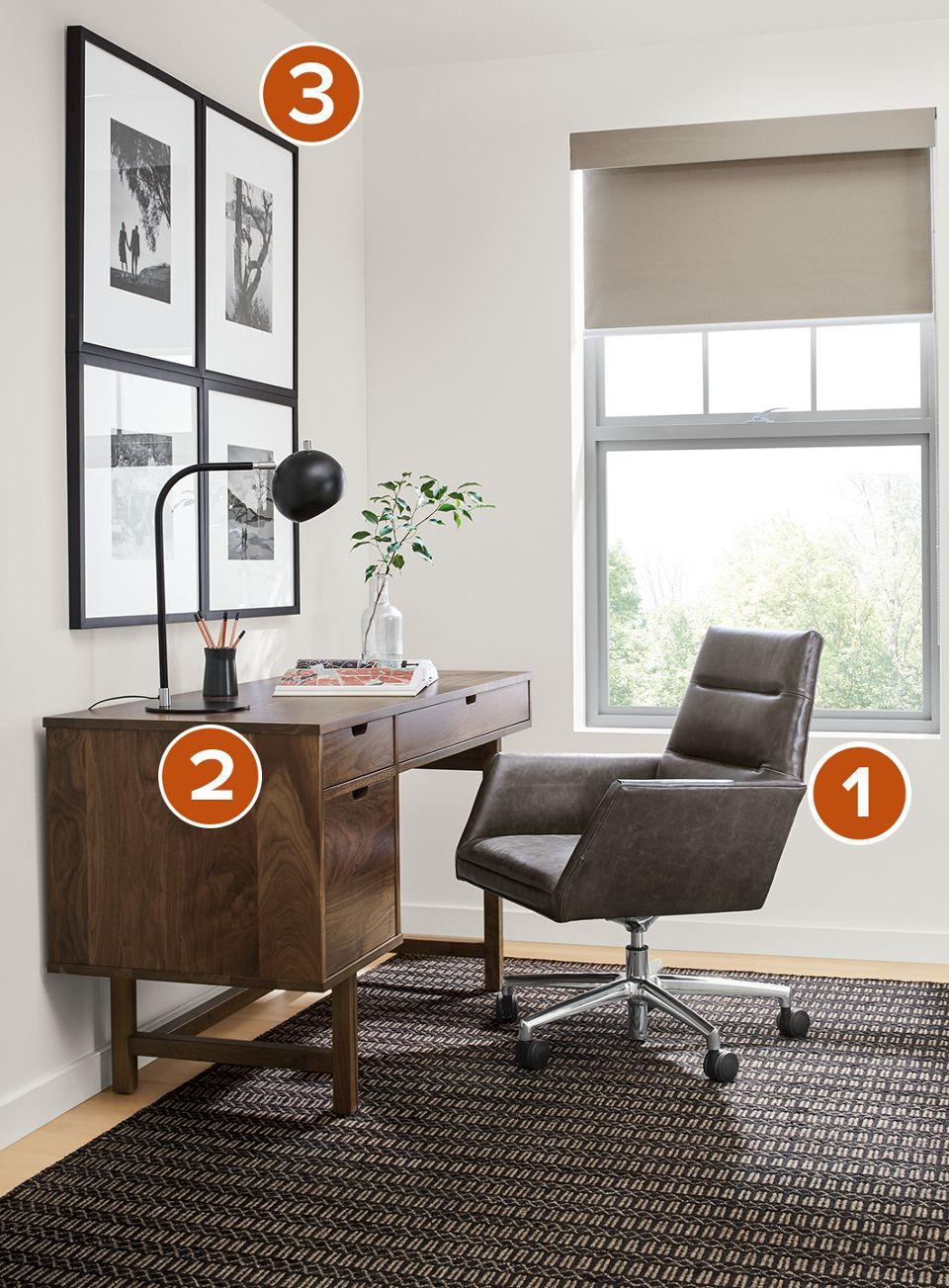 Ellis Desk With Tenley Office Chair Room Board