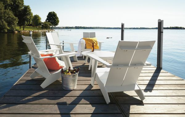 Charming Emmet Lounge Chairs In White