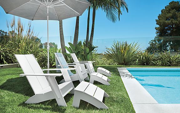Emmet Lounge Chairs in White