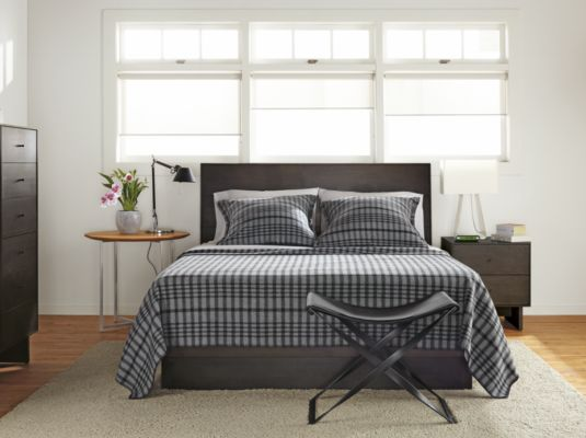 Delightful Hudson Bedroom Collection In Charcoal