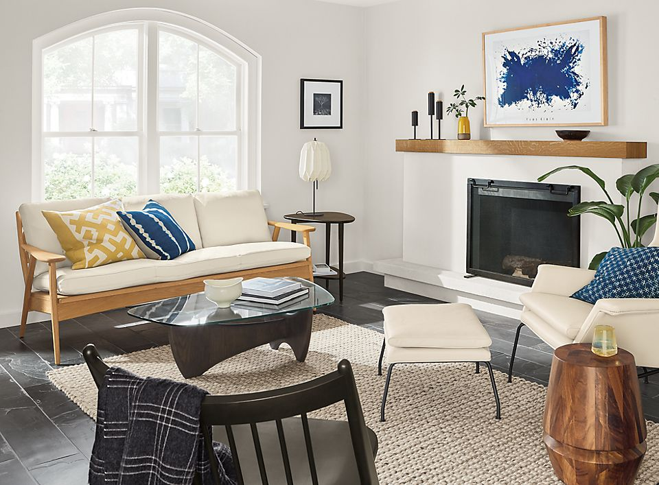 Ercison sofa in beach-inspired room