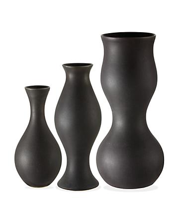 Eva Zeisel Upright Vases In Carbon Modern Vases Bowls Modern