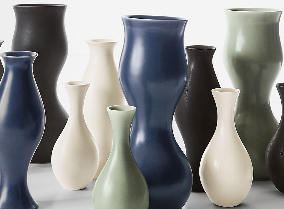 Detail of Eva Zeisel vases