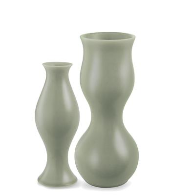 Eva Zeisel Upright Vases In Grey Modern Vases Bowls Modern