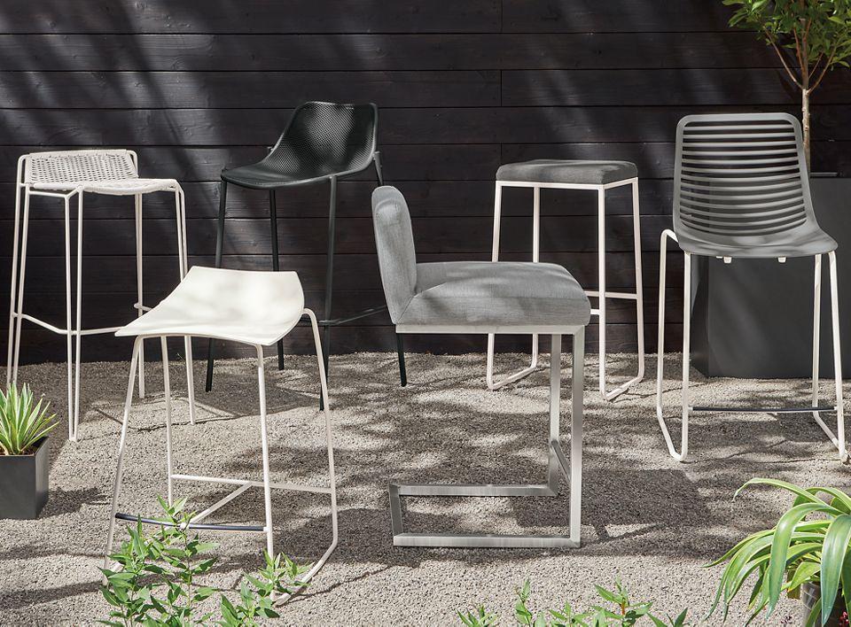 Detail of Finn outdoor stool