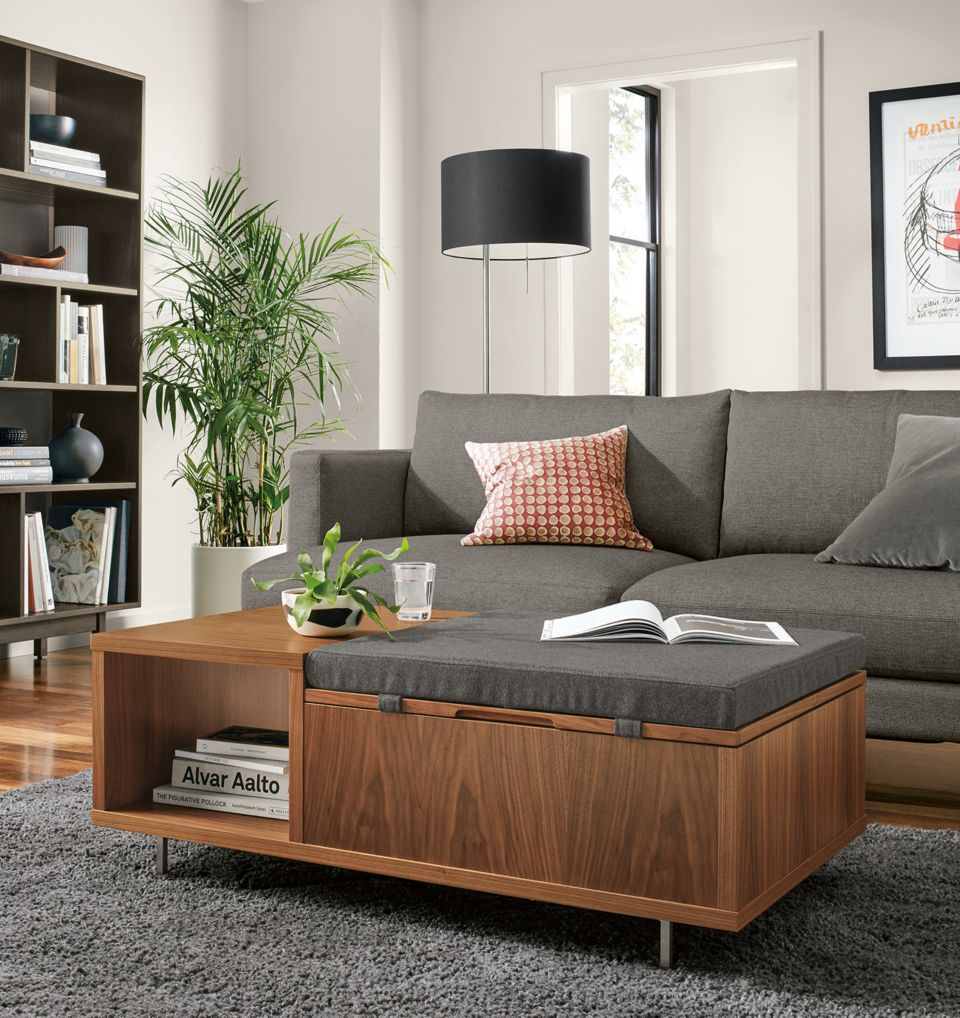 Detail of Fleming storage coffee table