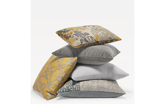 Saffron & Silver Pillow Ensemble