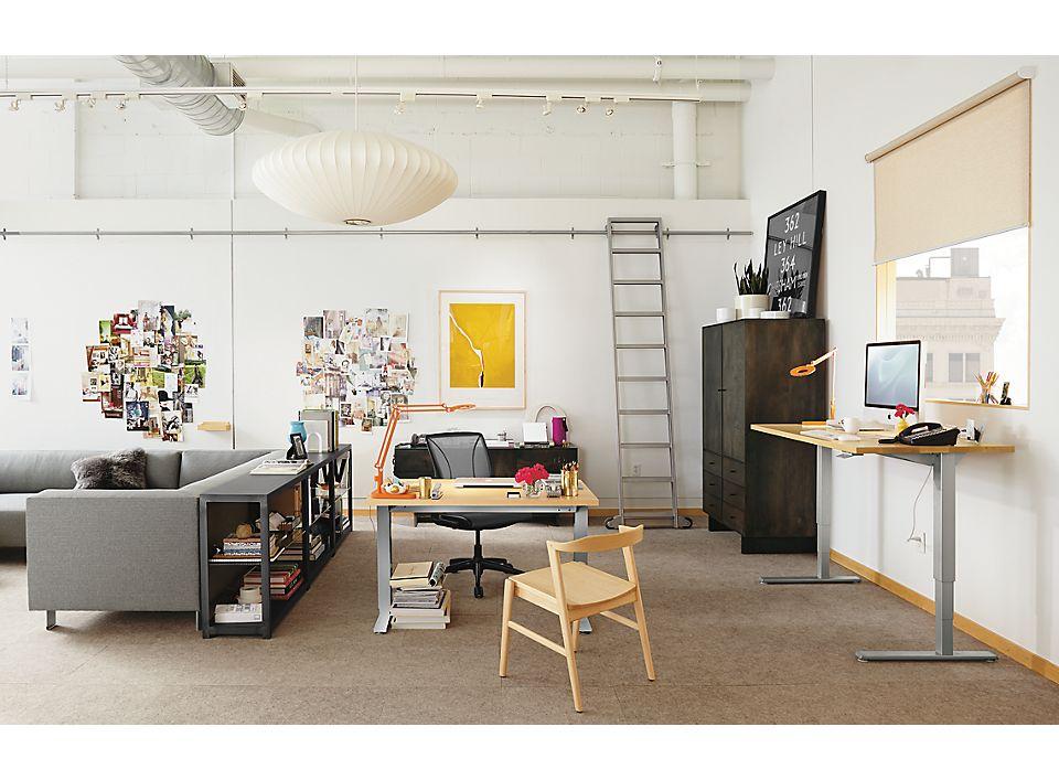 Detail of Float desk in large modern office