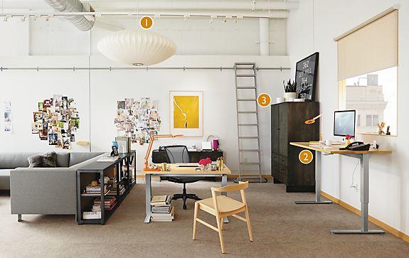Float Adjustable Desk Open Office Space