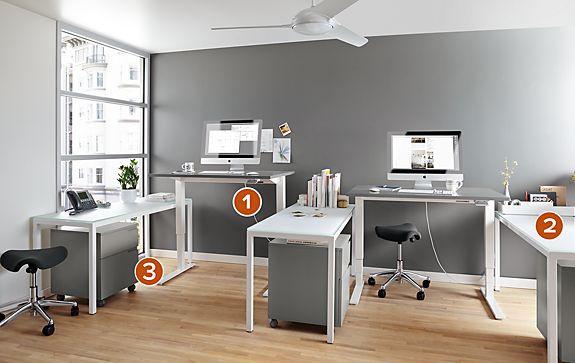 Float Adjustable Desk Office Space