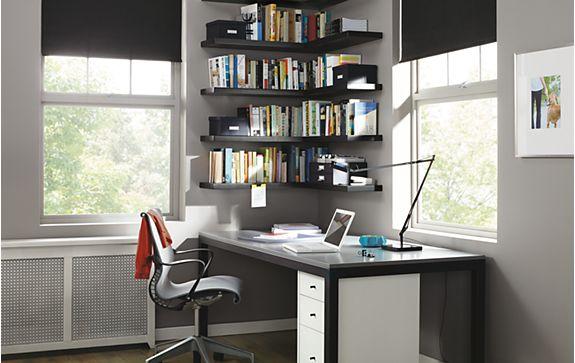 Float Shelves for Office Organization