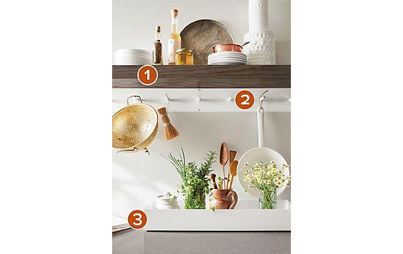 Float Shelf & Spike Wall Hooks