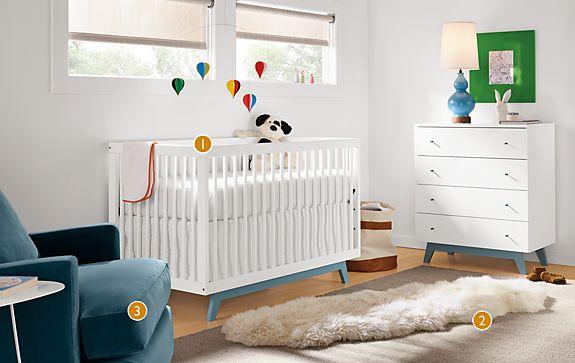Flynn Crib and Dresser