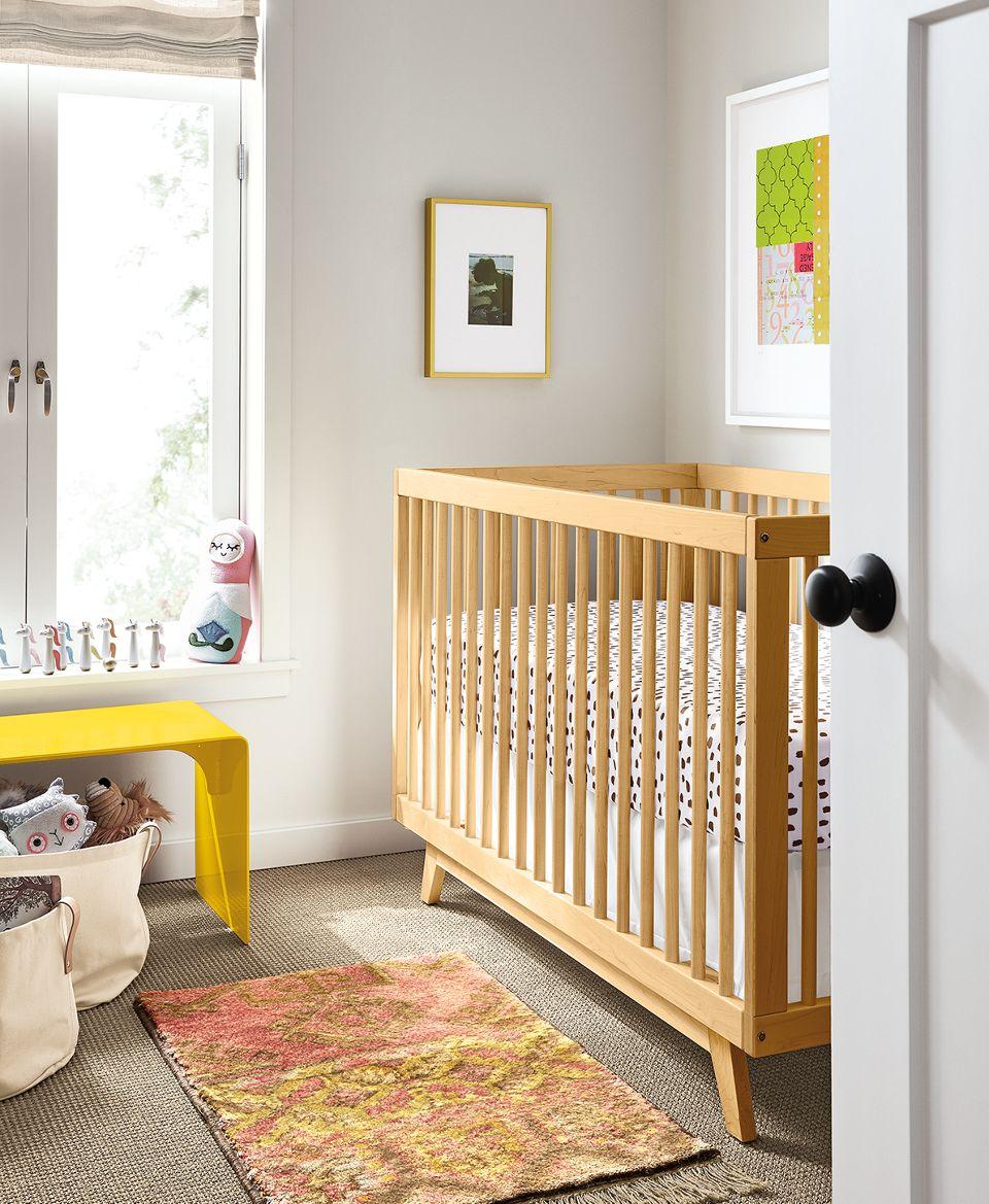 Detail of Flynn crib in nursery