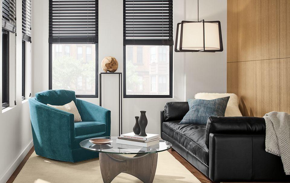 Moody modern living room