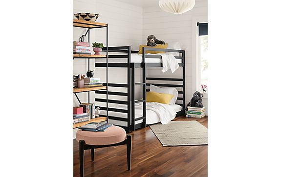 Fort Twin Over Twin Mini Bunk Bed Kids Room