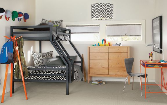 Fort Duo Bunk with Calvin Dresser Modern Kids Furniture Room