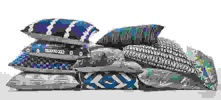 Detail of Gouro throw pillow