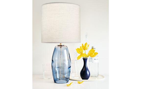 Grace Table Lamp in Steel Blue