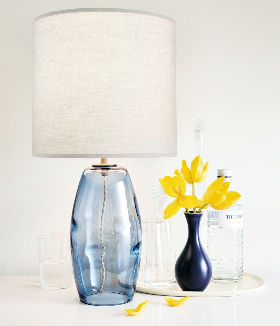 Detail of Grace glass-blown table lamp