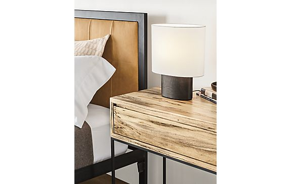 Haddie Table Lamp in Bark Stain
