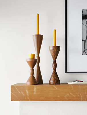 Detail of Halifax Scandinavian candle holders