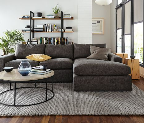 Harding Sofa with Chaise Living Room Modern Living Room