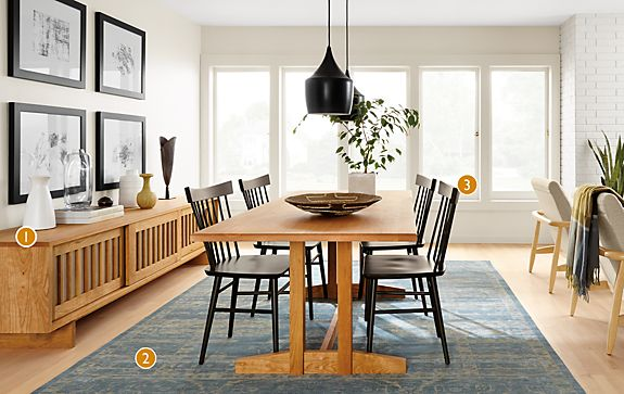 Share This Room. Hart Dining Table in Natural Cherry   Modern Dining Room Furniture