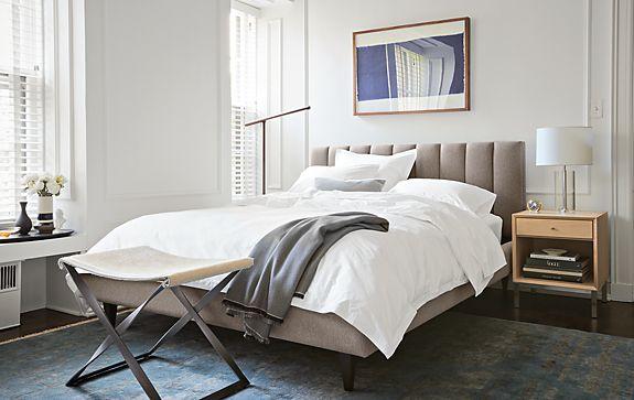 Hartley Bed in Flint Ivory - Modern Bedroom Furniture - Room & Board