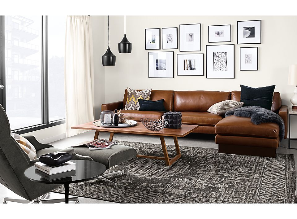 Hess 104-inch sofa with right-arm chaise