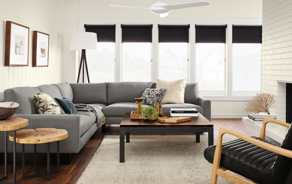 Hess three-piece sectional in living room