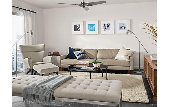 Ravella Studio Sofa in Boyer Linen