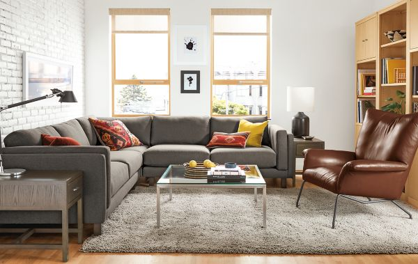 Holden Sectional with Paris Leather Chair : room and board sectional - Sectionals, Sofas & Couches