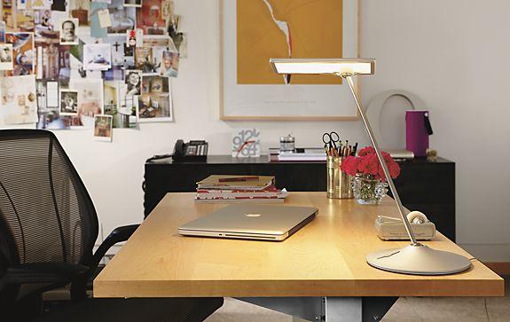 Horizon LED Lamp in Silver
