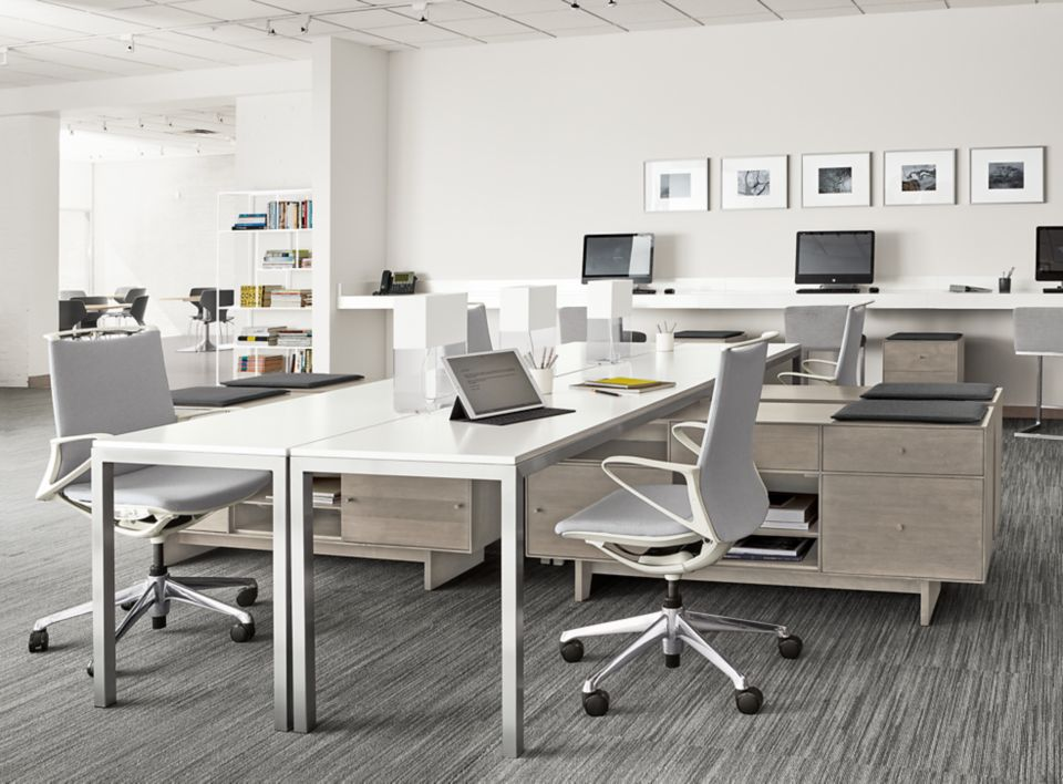 Open concept office with Hudson benching