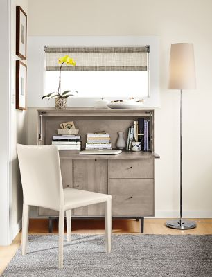 Hudson Office Armoire In Shell